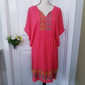 Bobbie Bee Boho Embroidered Casual Summer Dress